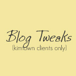 Blog Tweaks